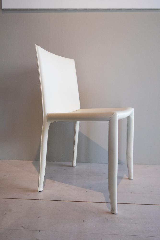 Sedie pelle 961 Latte modello Amy Cattelan